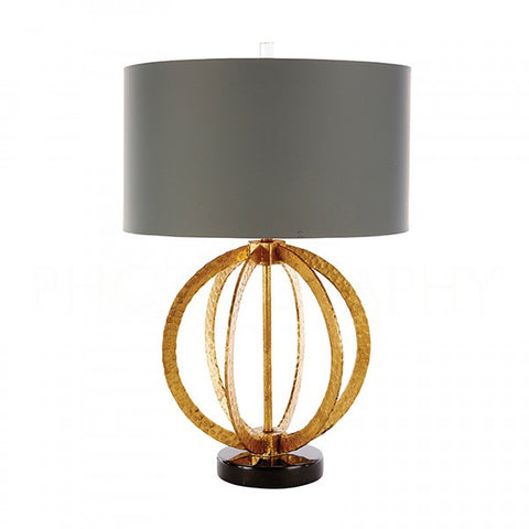 Geo Hammered Globe Lamp in Antique Gold design by Aidan Gray
