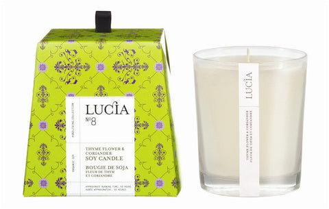 Lucia Thyme Flower & Coriander Candle design by Lucia