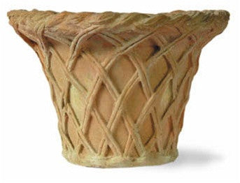 Lattice Pot Planter in Terracotta Finish design by Capital Garden Products