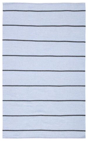 Corbina Indoor/ Outdoor Stripe Light Blue & Gray Area Rug