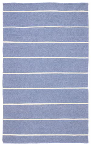 Corbina Indoor/ Outdoor Stripe Blue & Ivory Area Rug