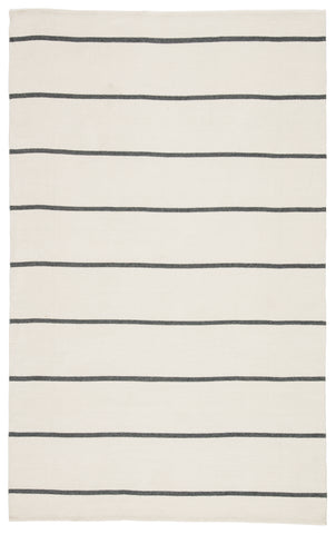 Corbina Indoor/ Outdoor Stripes Ivory/ Black Rug by Jaipur Living