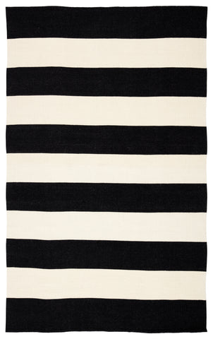 Remora Indoor/ Outdoor Stripes Black/ Ivory Rug by Jaipur Living