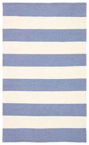 Remora Indoor/ Outdoor Stripes Blue/ Ivory Rug by Jaipur Living
