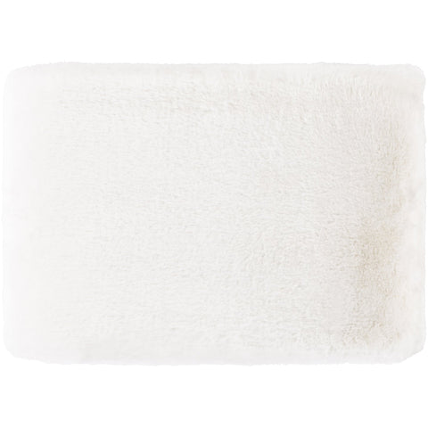 Lapalapa LAP-1000 Faux Fur Throw in White by Surya