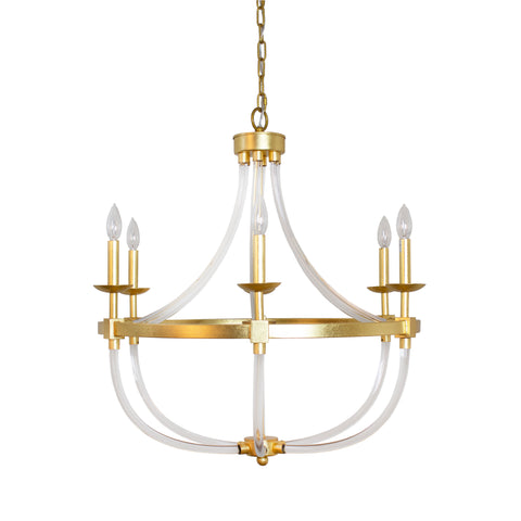 Layla Six Light Chandelier in Various Colors