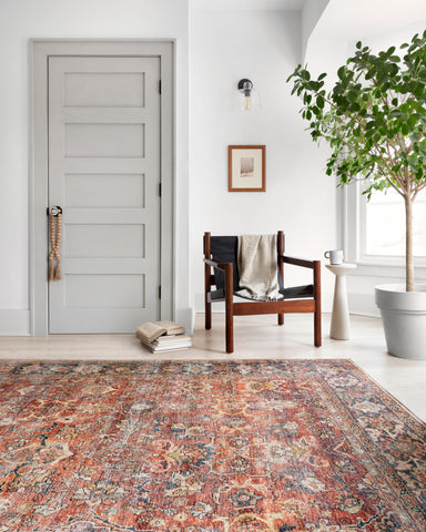Layla Rug in Spice & Marine by Loloi II