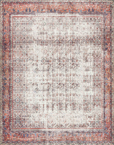 Layla Rug in Ivory / Brick by Loloi II