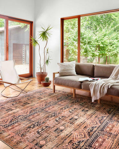 Layla Rug in Mocha / Blush by Loloi II