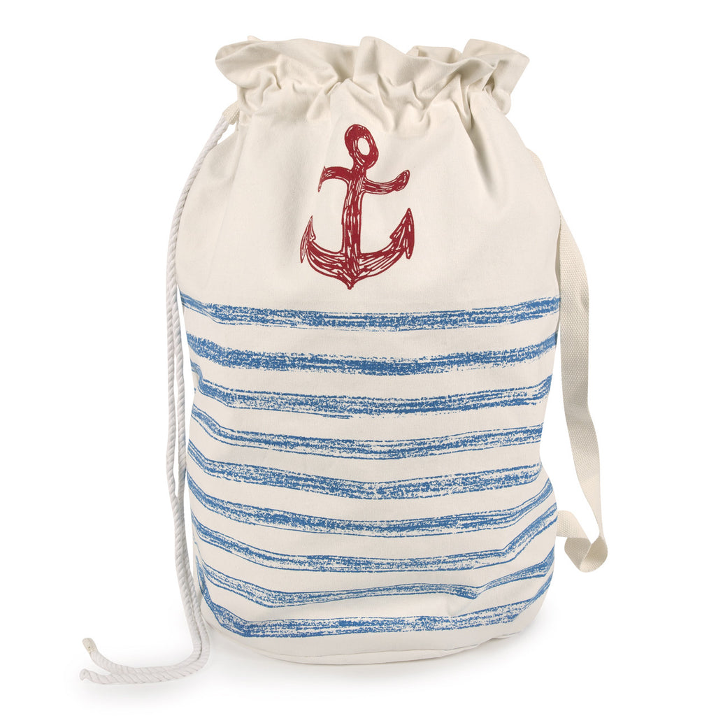 Anchor Strip Sketch Laundry Bag design by Thomas Paul