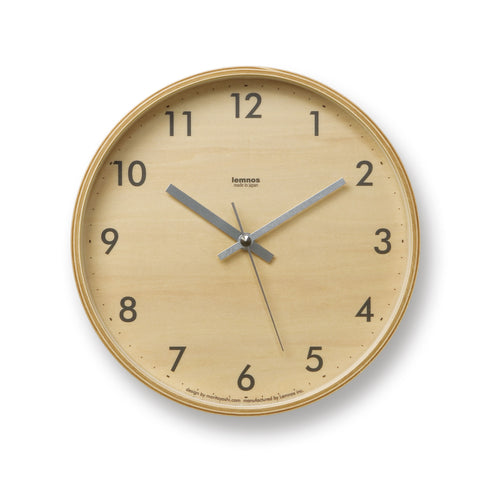 Plywood Clock design by Lemnos