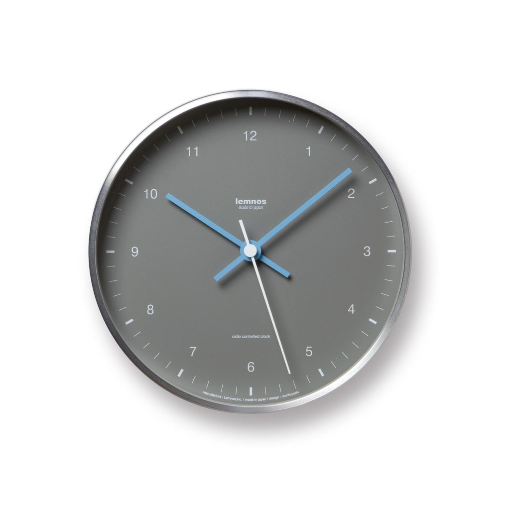 Mizuiro Wall Clock in Grey design by Lemnos