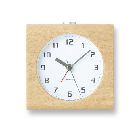 Block Alarm Clock in White design by Lemnos