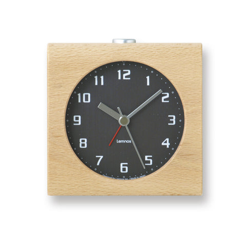 Block Alarm Clock in Black