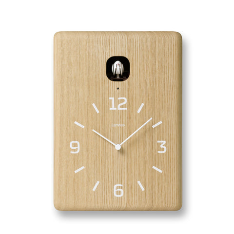 Cucu Wall Clock in Natural design by Lemnos