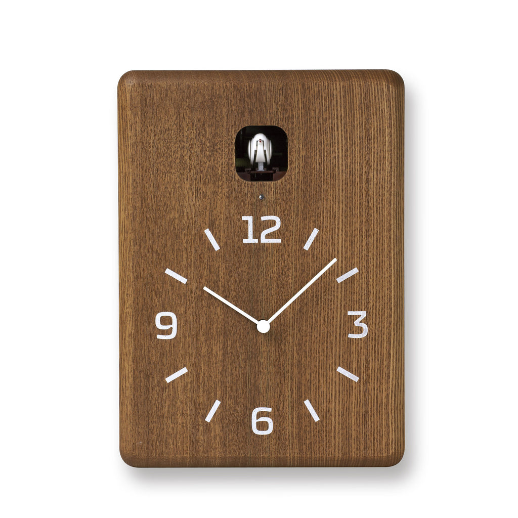 Cucu Wall Clock in Brown design by Lemnos