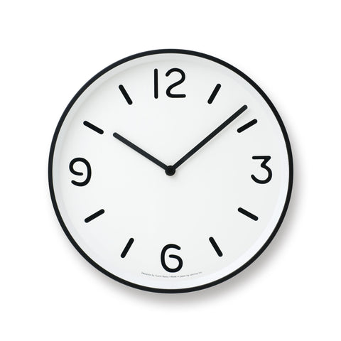 Mono Wall Clock in White