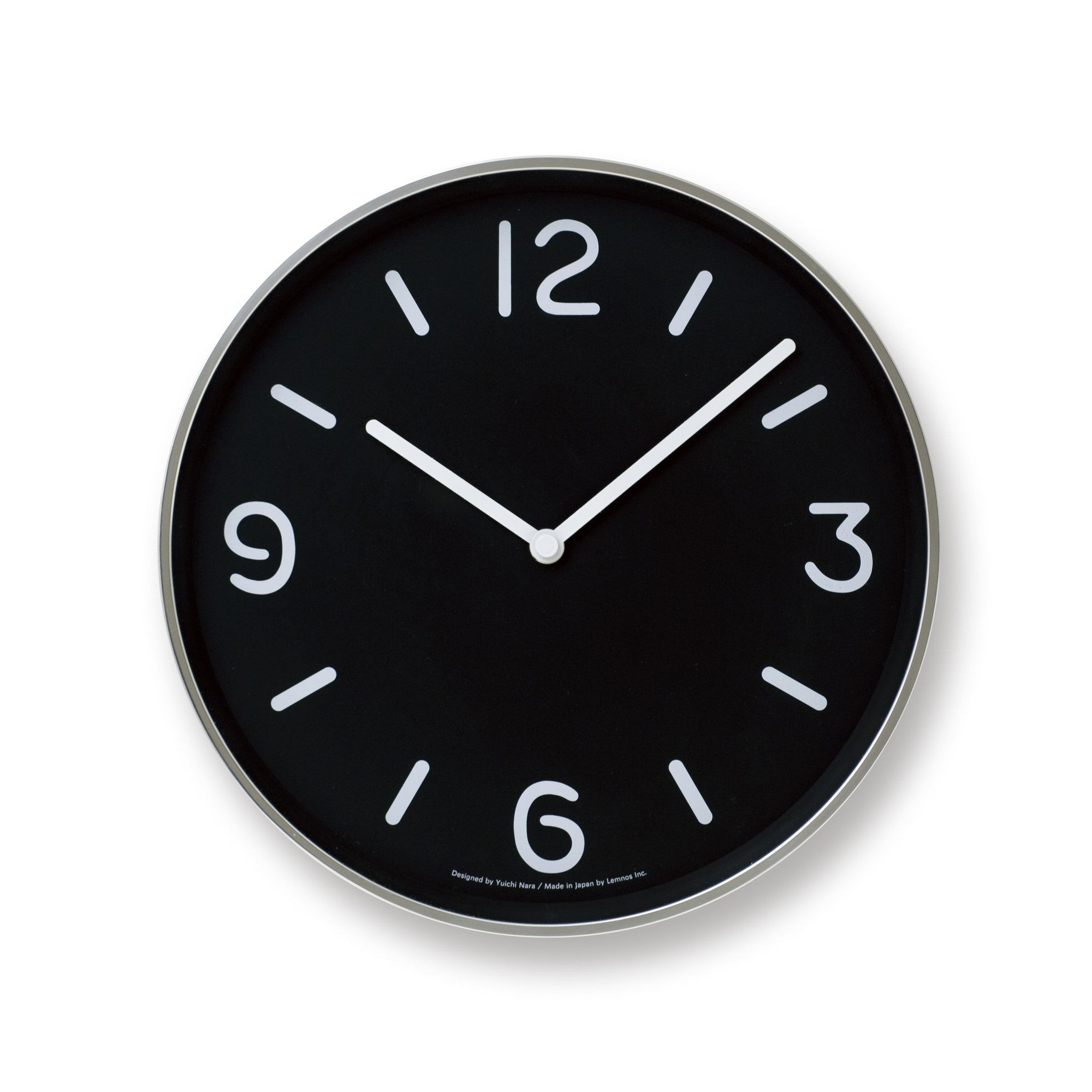 Mono wall clock in black design by lemnos burke decor mono wall clock in black design by lemnos amipublicfo Choice Image