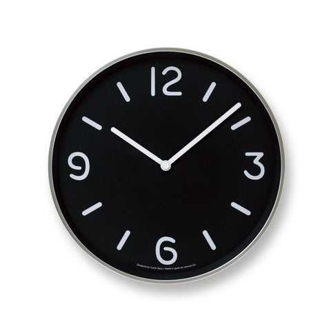 Mono Wall Clock in Black design by Lemnos