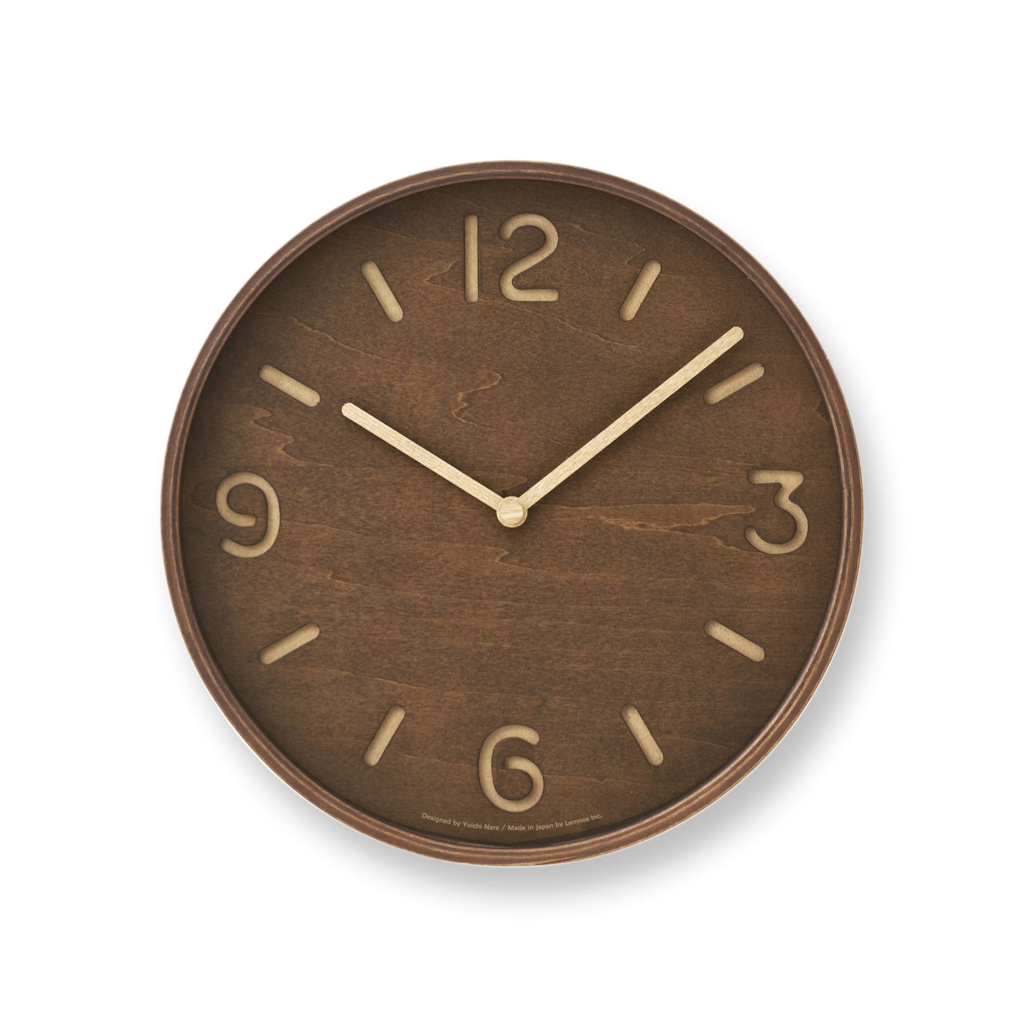 Thompson wall clock design by lemnos burke decor thompson wall clock design by lemnos amipublicfo Images