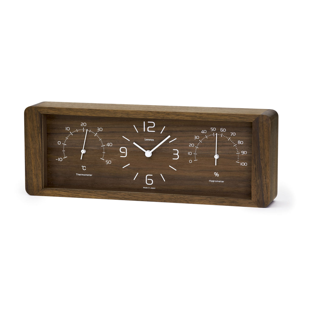 Yokan Table Clock in Brown design by Lemnos