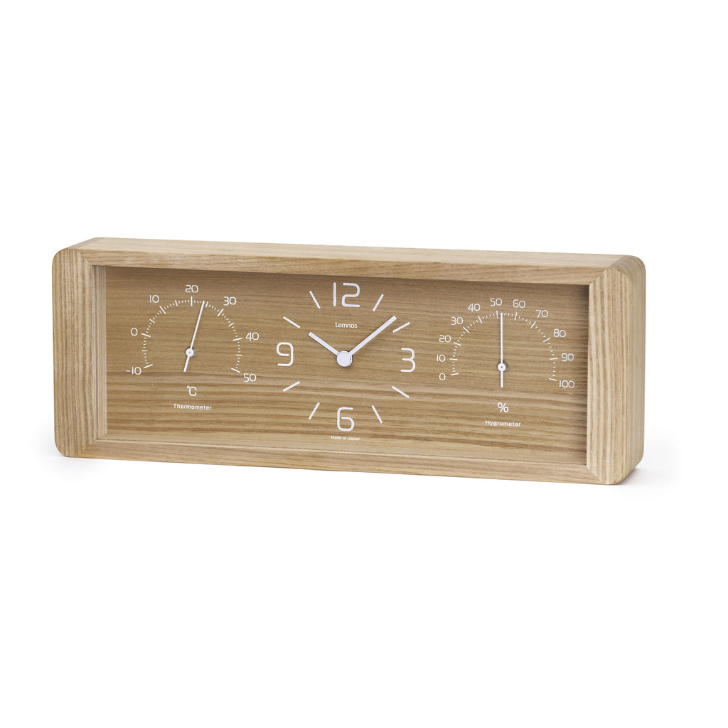 Yokan Table Clock in Natural design by Lemnos