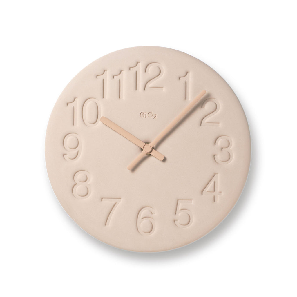 Earth Wall Clock in Pink design by Lemnos