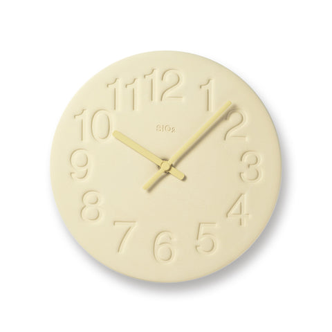 Earth Wall Clock in Yellow design by Lemnos