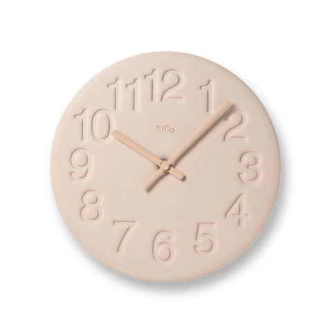 Earth Wall Clock in Pink