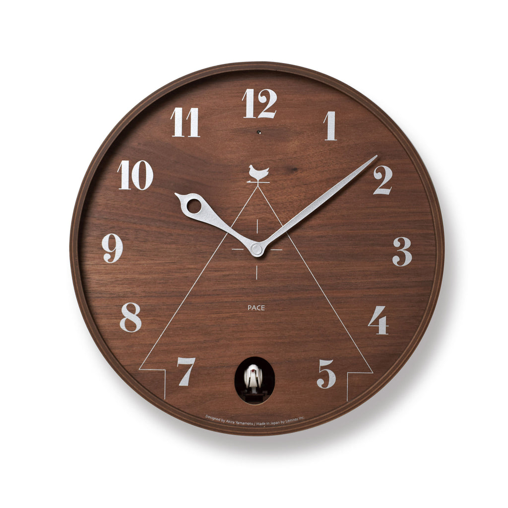 Pace Wall Clock in Brown