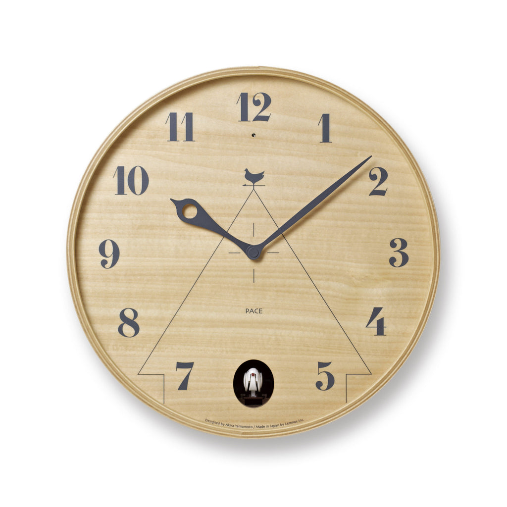 Pace Wall Clock in Natural design by Lemnos