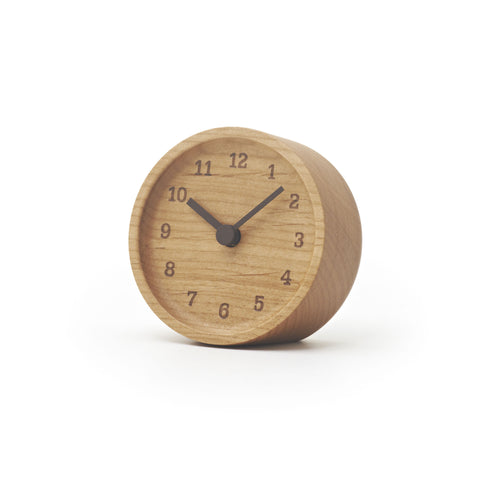 Muku Table Clock in Alder design by Lemnos