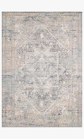 Lucia Rug in Grey & Sunset by Loloi II