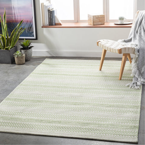 La Casa LCS-2312 Rug in Grass Green & Ivory by Surya