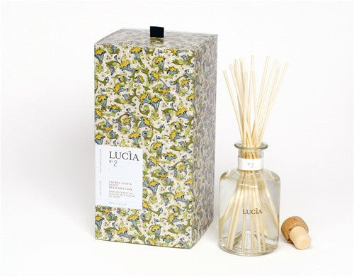 Lucia Olive Blossom and Laurel Aromatic Reed Diffuser design by Lucia