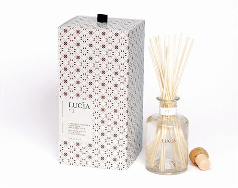 Lucia Goat Milk & Linseed Flower Aromatic Reed Diffuser design by Lucia