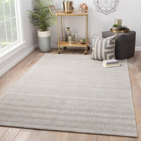 Oplyse Handmade Stripe Gray & Silver Area Rug design by Jaipur
