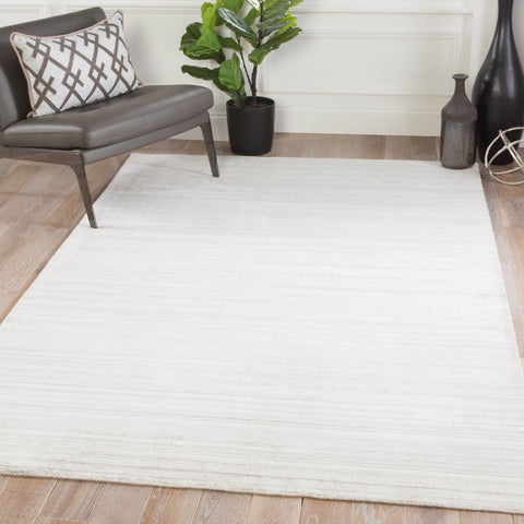 Bellweather Solid Rug in White Swan & Goat design by Jaipur Living
