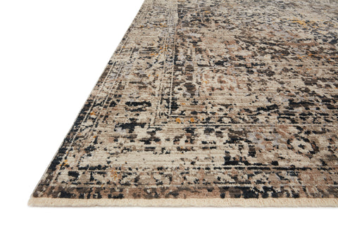 Leigh Rug in Charcoal / Taupe by Loloi