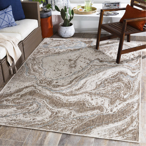 Laguna LGU-2303 Indoor/Outdoor Rug in Camel & White by Surya