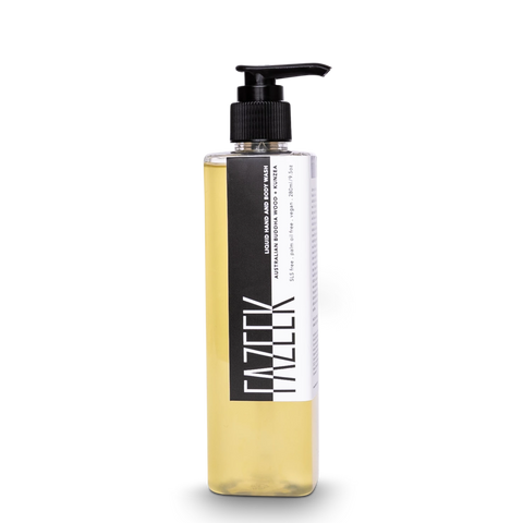 Liquid Hand & Body Wash in Australian Buddha Wood & Kunzea design by Fazeek