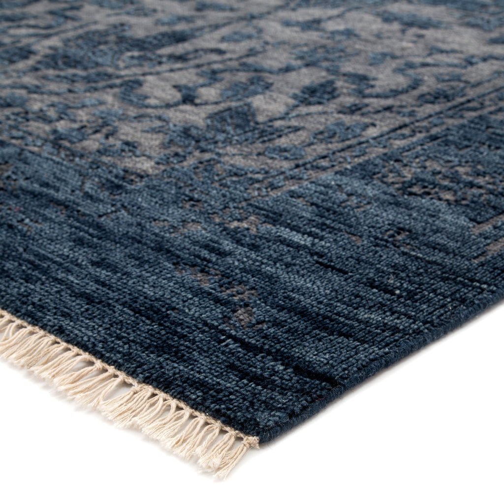 Abington Hand-Knotted Medallion Blue & Gray Area Rug