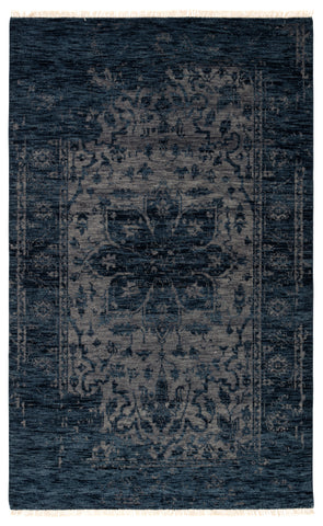 Abington Hand-Knotted Medallion Blue/ Gray Rug by Jaipur Living