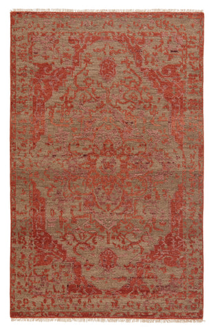 Azar Hand-Knotted Medallion Rust & Taupe Rug by Jaipur Living