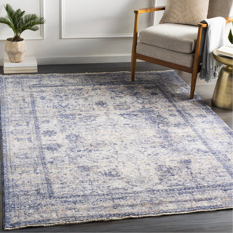 Lincoln LIC-2302 Rug in Sky Blue & Beige by Surya