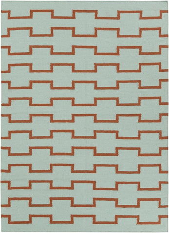 Lima Collection Hand-Woven Area Rug, Green & Red design by Chandra rugs