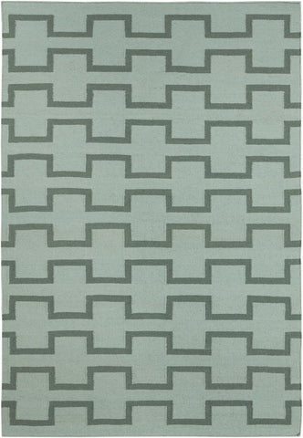 Lima Collection Hand-Woven Area Rug, Green