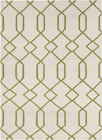 Lima Collection Hand-Woven Area Rug, Beige & Yellow