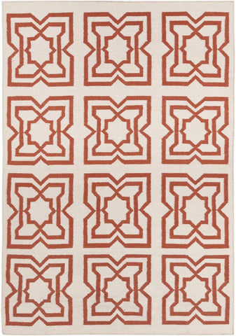 Lima Collection Hand-Woven Area Rug, Beige & Red design by Chandra rugs