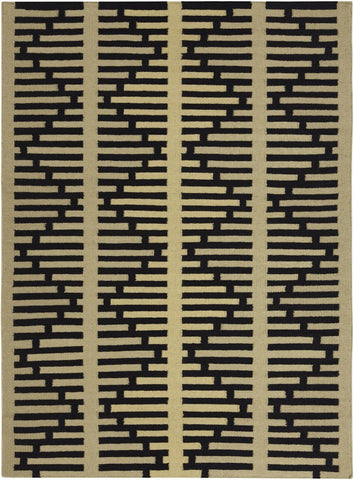Lima Collection Hand-Woven Area Rug, Yellow design by Chandra rugs